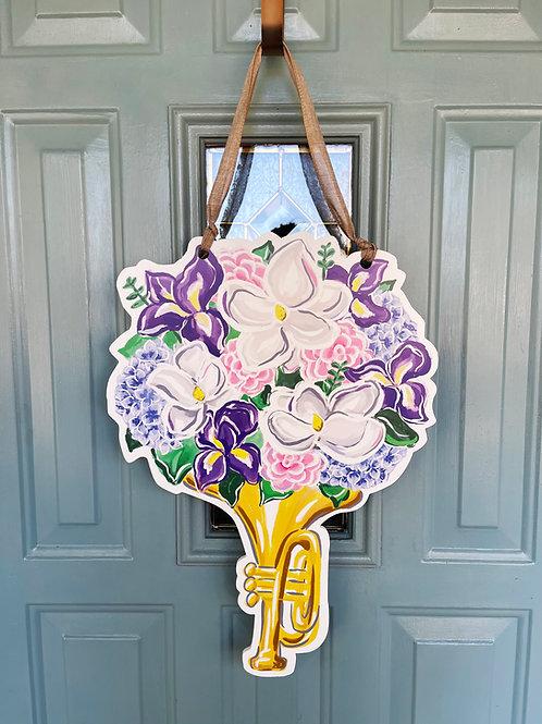 Jazz Bouquet Door Hanger