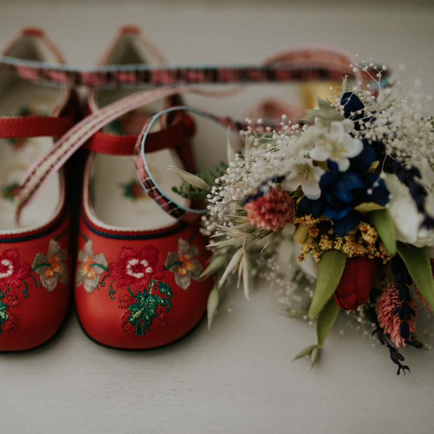 Eveys Shoes and flowers