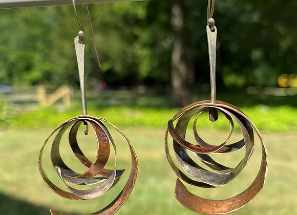 Celestial Wave Earring Bronze Sterling Bronze