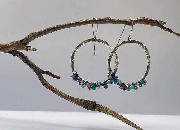 Sterling and Stone Hoops