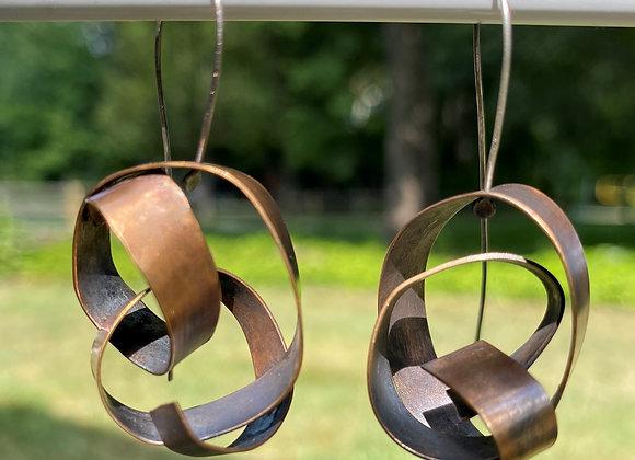 Bronze RibbonWave Earring