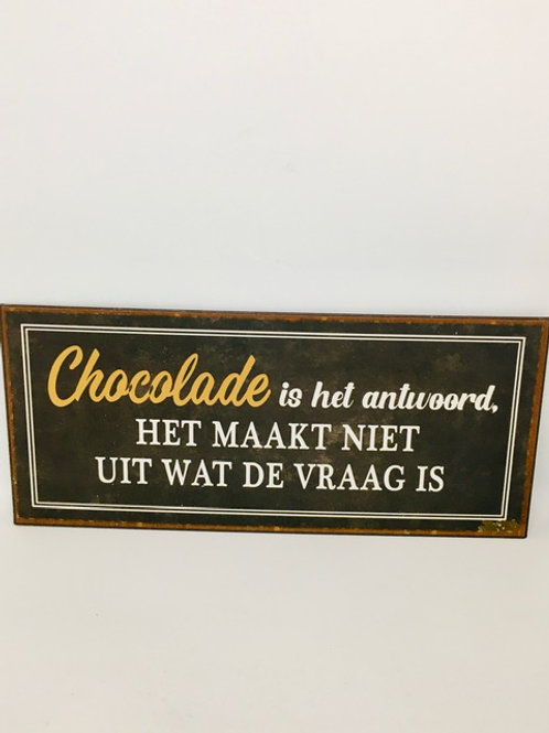 Chocolade antwoord