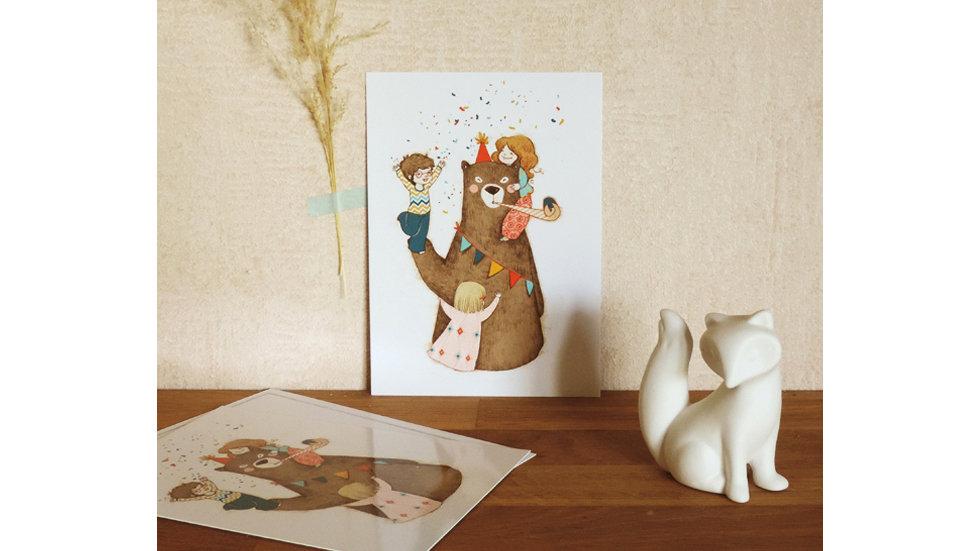 CARTE Happy Bear's Day