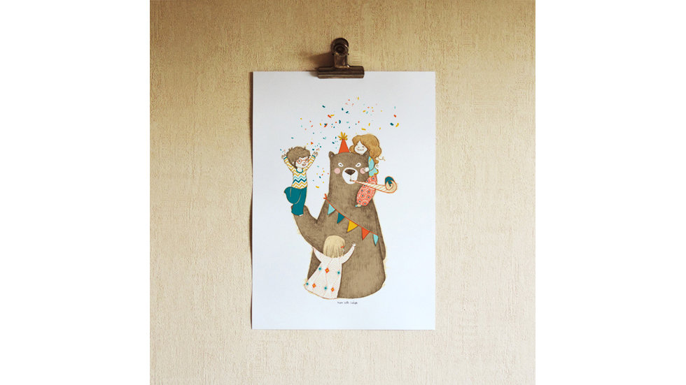AFFICHE Happy Bear's Day