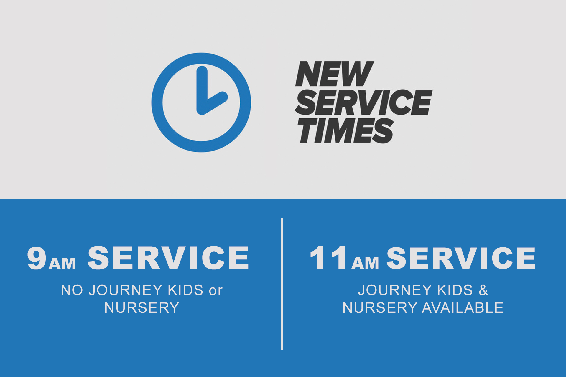 Service Times 9 & 11