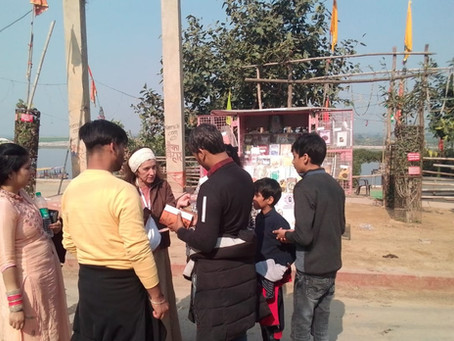 Book Distribution Drive in Vrindavan