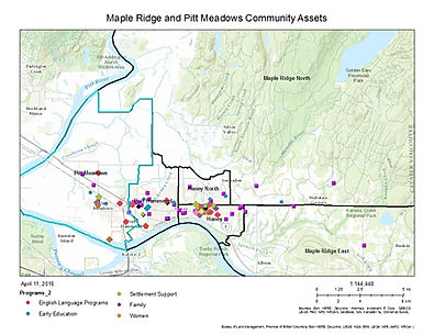 Maple Ridge, Pitt Meadows Map of services, programs, places of worship and cultural events