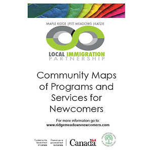 Maple Ridge, Pitt Meadows community map showing programs and services for newcomers