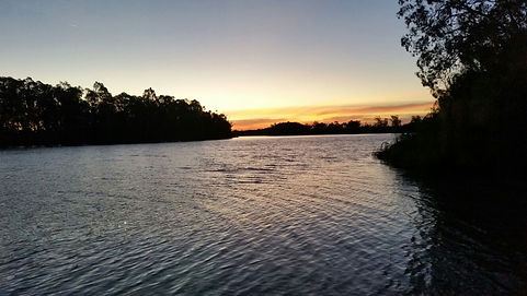 Sunset on the Murray River SA