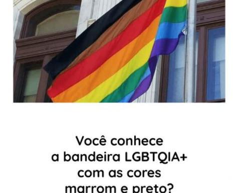 As cores da bandeira LGBT