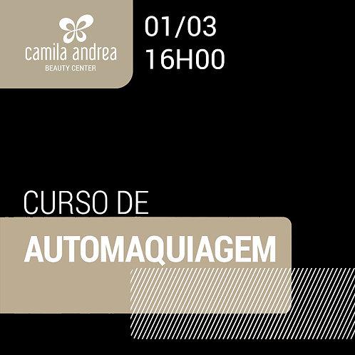Curso Personalizado de Automaquiagem - 01 Março - 16hs
