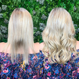 """16"""" of custom colored @bellamihairpro sew-in's for this beautiful client! She wanted fullness but was worried about the bulkiness of extensions...thankfully the machine wefts from @bellamihair can be deconstructed into more Discrete sub sections making it more comfortable and virtually undetectable than the average sew-in method!"""