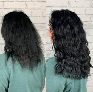 Two rows of sew-in weft for volume and fullness.