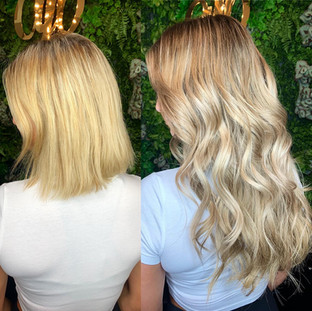What a fun transformation for @sarahannmagda 🤗 we used 5N 6NV @redken shades eq for lowlights and root smudge leaving the ends out and toning everything with 8GI 6N 6P on wet hair.