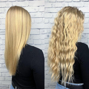 22in of golden blonde itip extensions fr