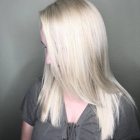 First session done! On our way to a silvery icy blonde! Sorry for no before photo! We just got too excited and started immediately! 🤦🏼♀️ .jpg