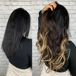 Ombré itips from @bellamihairpro helped create the brightness and dimension we wanted without damaging my client's hair 🥰