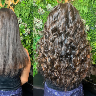 """For my curl girls! 24"""" of natural curl for that air dried bouncy love! @s2lhair kills it with the natural curl/wave extensions in all lengths!"""