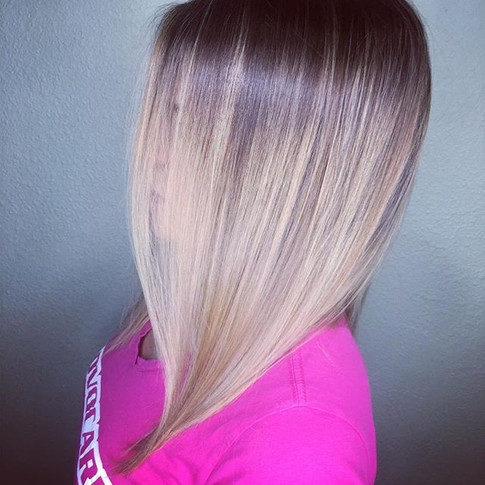 Bring on the bayalage blonde! Nice little melt and simple lob for the beautiful and talented Sarah.jpg