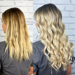 @bellamihairpro sew-in method is amazing for adding brightness, fullness and length. This bride wanted to be brighter and bolder for her wedding and I hope I made her hair dreams come true!