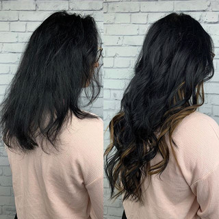 Client brought her own extensions for a