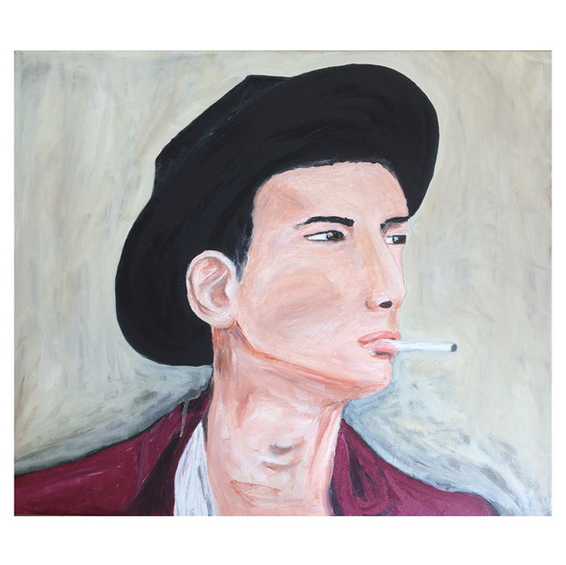 Man with hat // Oil on canvas //60x70cm