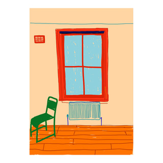 Chair in front of radiator under the window (Isolation Series N 7)