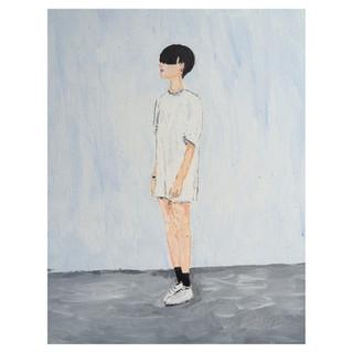 Girl needs haircut // Acylics on canvas