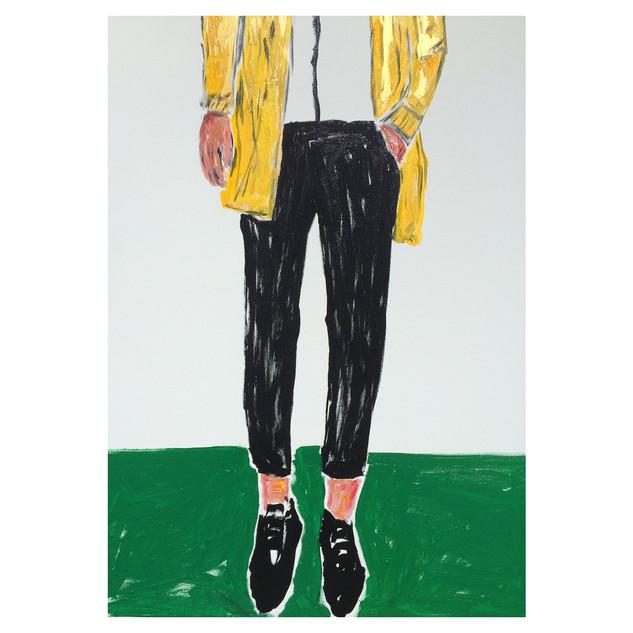 Gold Jacket. Oil & acrylic on canvas, 70