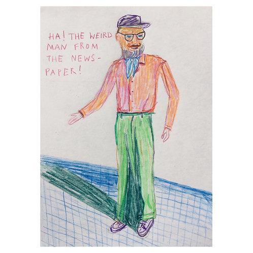 Newspaper man // Original drawing