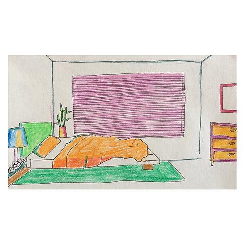 BH's Bedroom // Original drawing