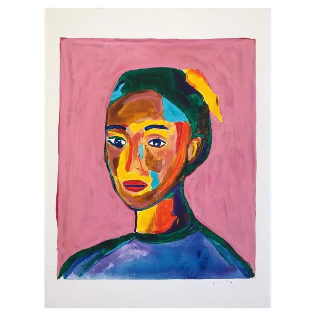 Girl // Acrylics on canvas 30 x 40 cm