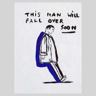 Falling man // acrylics on canvas 15 x 2