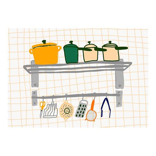 Isolation Series N 2 // Pot, pot, pot, and pot and stuff // A3 print