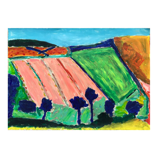 Landscape // Acrylics on paper, A2