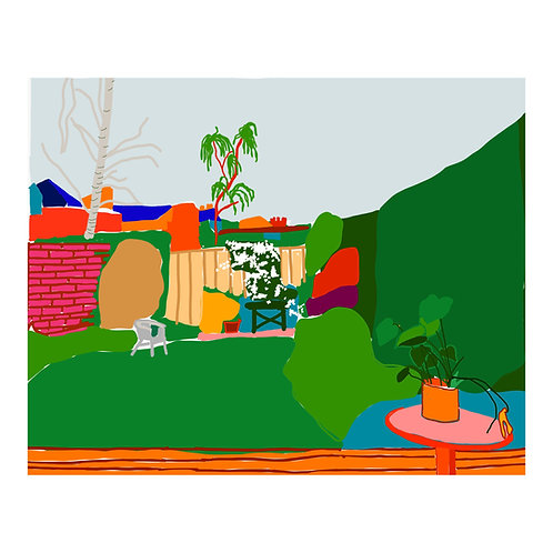 Isolation Series N 1 // Garden // A3 print