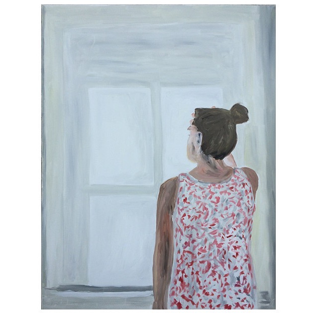 Woman at the window. Oil on canvas, 70 x