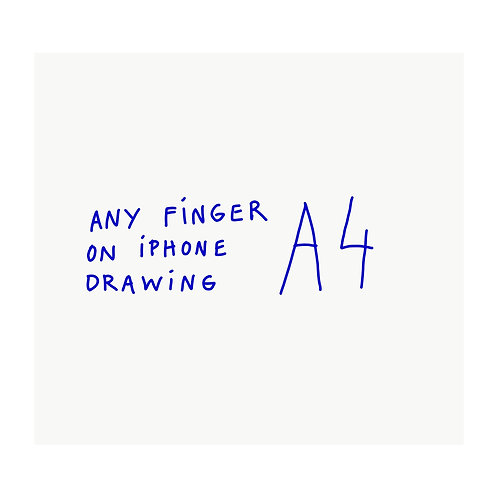 Finger on Iphone // A4 print