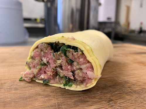 Frozen Bacon Jam Sausage Roll