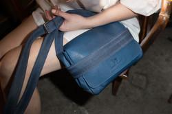 Blue Saddle Leather Bag