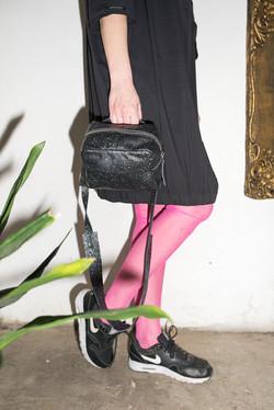Mini Box Black Leather Bag
