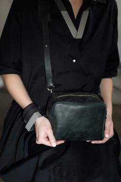 Black Mini Box Bag