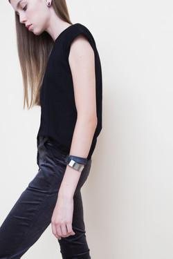 Twisted Double-Loop Bracelet. Metal