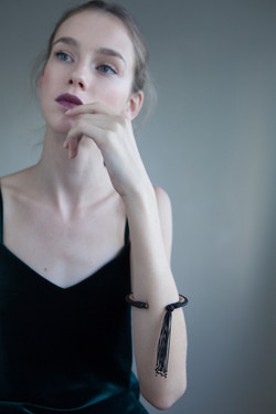 Cuff Bracelet with Tassel