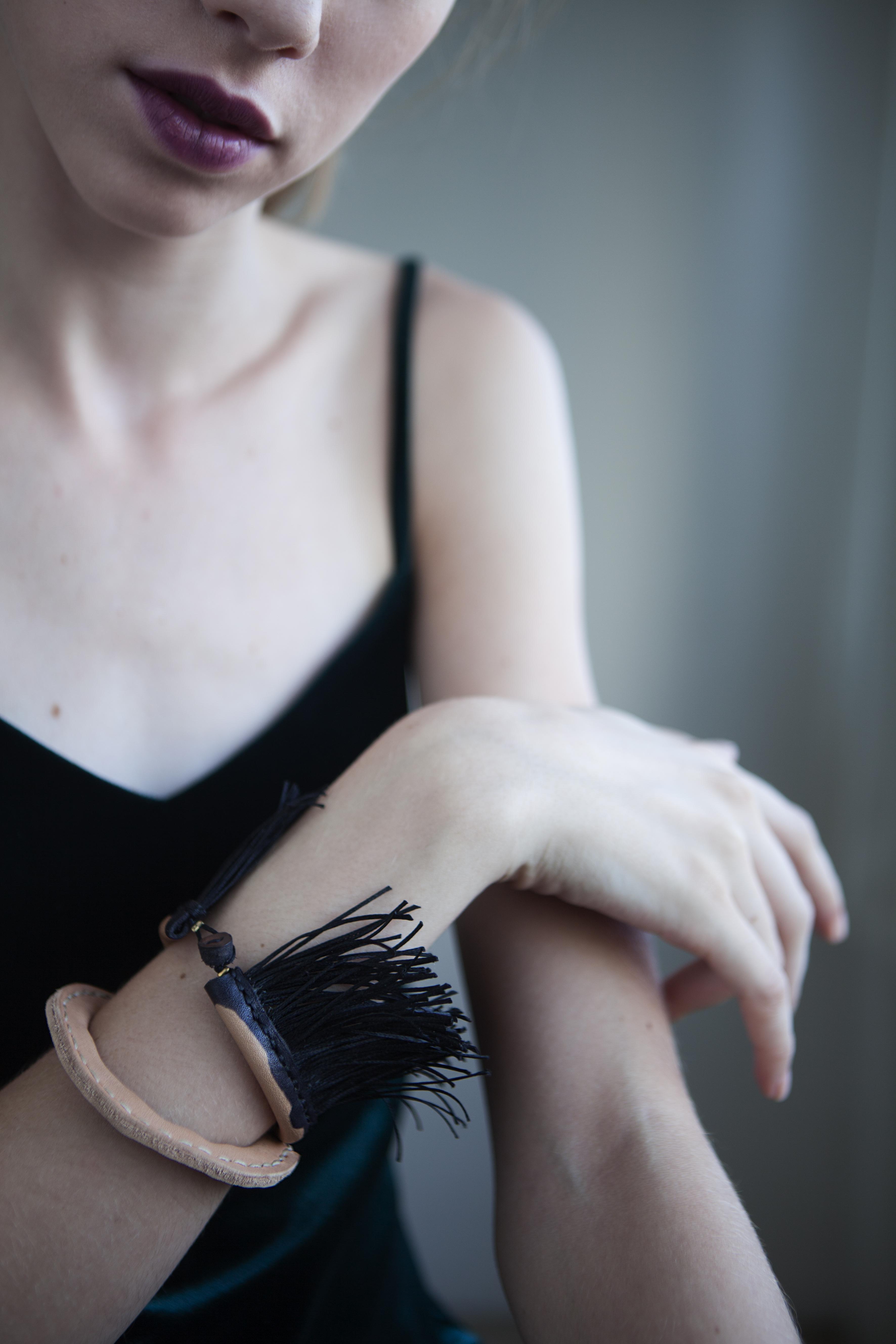Black Fringe Bracelet