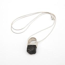 Black Turmaline Silver Necklace