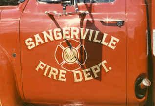 Vehicle Gold Leaf Sangerville Fire Depar