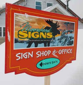 Flat Panel w Digital Print Sign Shop & O