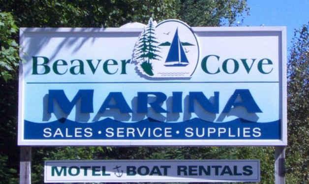 Dimensional Carved Beaver Cove Marina tn