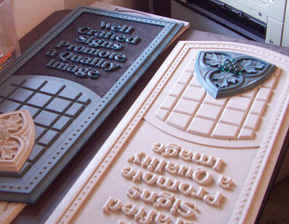 Dimensional Carved Corian Samples 6 tn.J
